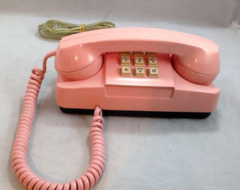 Pink Starlite Princess Telephone Model 182 by GTE Automatic Electric  Circa 1980     01863
