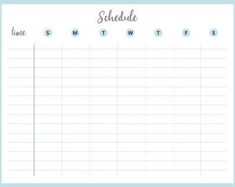 Printable Weekly Schedule | Weekly Schedule | Printable Schedule | Goal Planner | Weekly Planner | Weekly Goal Tracker | Office Decor