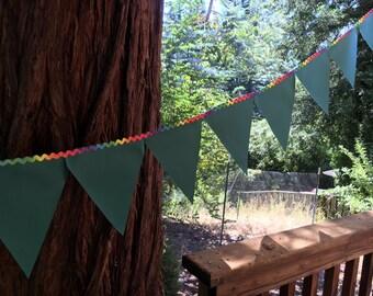 Chalkboard Fabric Pennant Flags