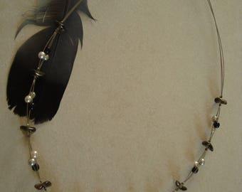 Black White grey original fashion necklace