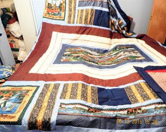 King sized Fisherman design quilt