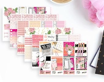 Glam Gal Weekly Planner Sticker Kit   Erin Condren Planner Stickers   Any Planner Stickers