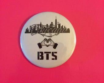Chicago hearts BTS button