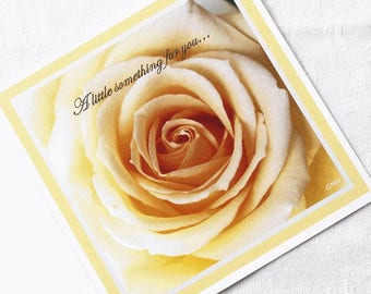 """Greating card - """"A little something for you..."""""""
