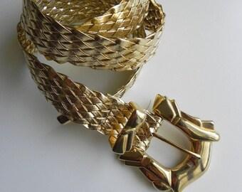 lamé shantay ~ gold weave belt