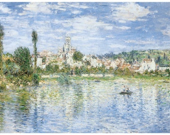 Hand-cut wooden jigsaw puzzle. VETHEUIL SUMMER. Claude Monet. Impressionist. Impressionism. Wood, collectible. Bella Puzzles.