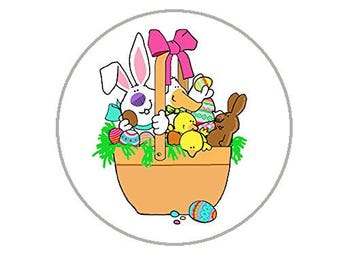 """Easter Envelope Seals - 1.2"""" Easter Stickers - 144 Fun Holiday Stickers - 25168"""