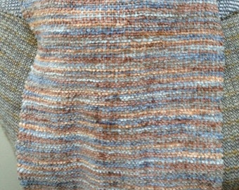 handwoven scarf in rayon chenille harmony print