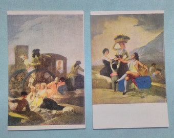 2 old postcards of the 60s, unused and good condition.