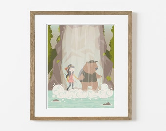 the falls print