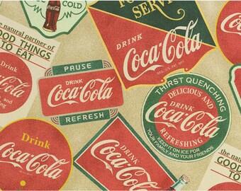 Coca Cola Vintage Cotton fabric