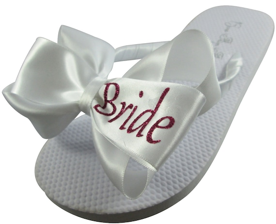 wedges Shop flip selection flops our flats ivory all Bride sizes for large Flip Bridesmaids Bridal wedding Bride of Flops white qxgvtYzZ