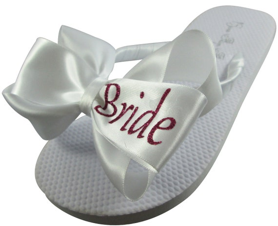 Shop of flats flops sizes large Bride Flip for selection Flops Bridesmaids Bridal white ivory wedding flip our all Bride wedges Ct0qw6