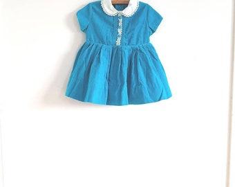 Vintage Blue Croduroy Dress