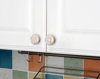 Set of 4pcs Round Drawer Knobs JP1516-Ceramic Door Knob Handle Pull for Cupboard Cabinet Drawer