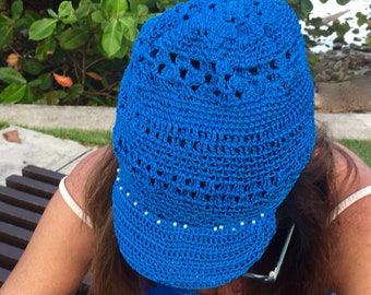 Crochet hat soft and fresh