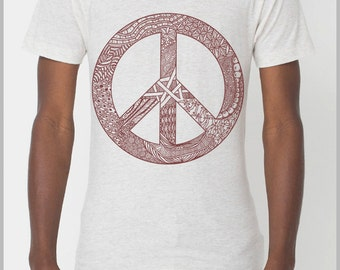 Peace (Assorted Sizes) - American Apparel Unisex T Shirt - Full Spectrum Apparel