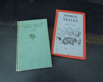Animal Tracks A Field Guide to Animal Tracks 1960 1943 - Illustrated - Reference How To Informational Guide Books - Gift Woodsman Boy Scout