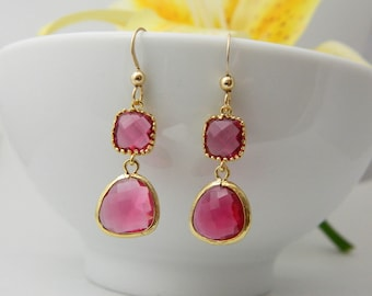 set all earrings fantasy frills fuschia product drop necklace img pearl beauty wilma and