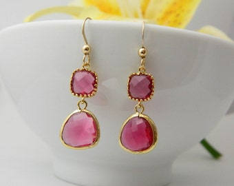 m poshmark earrings fuschia chandelier listing