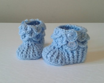 Crocodile Booties; Boy's Knitted Clothes; Baby Booties