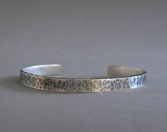 Mens cuff, Oxidized silver bracelet, Sterling silver hammered cuff , Mens silver cuff bracelet, Mens jewelry