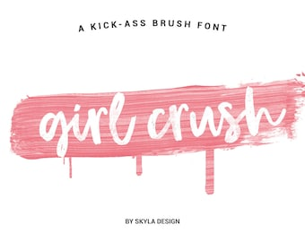 Bold brush font, Modern brush font, Cursive font, Handwritten font, Digital font download, hand lettered font, Feminine font