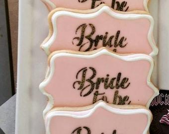 Bridal Shower Bride to Be Soft Sugar Cookies 1dz