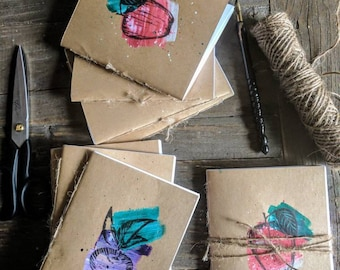 Notes From the Garden - 2 notebooks - blank pages - journal