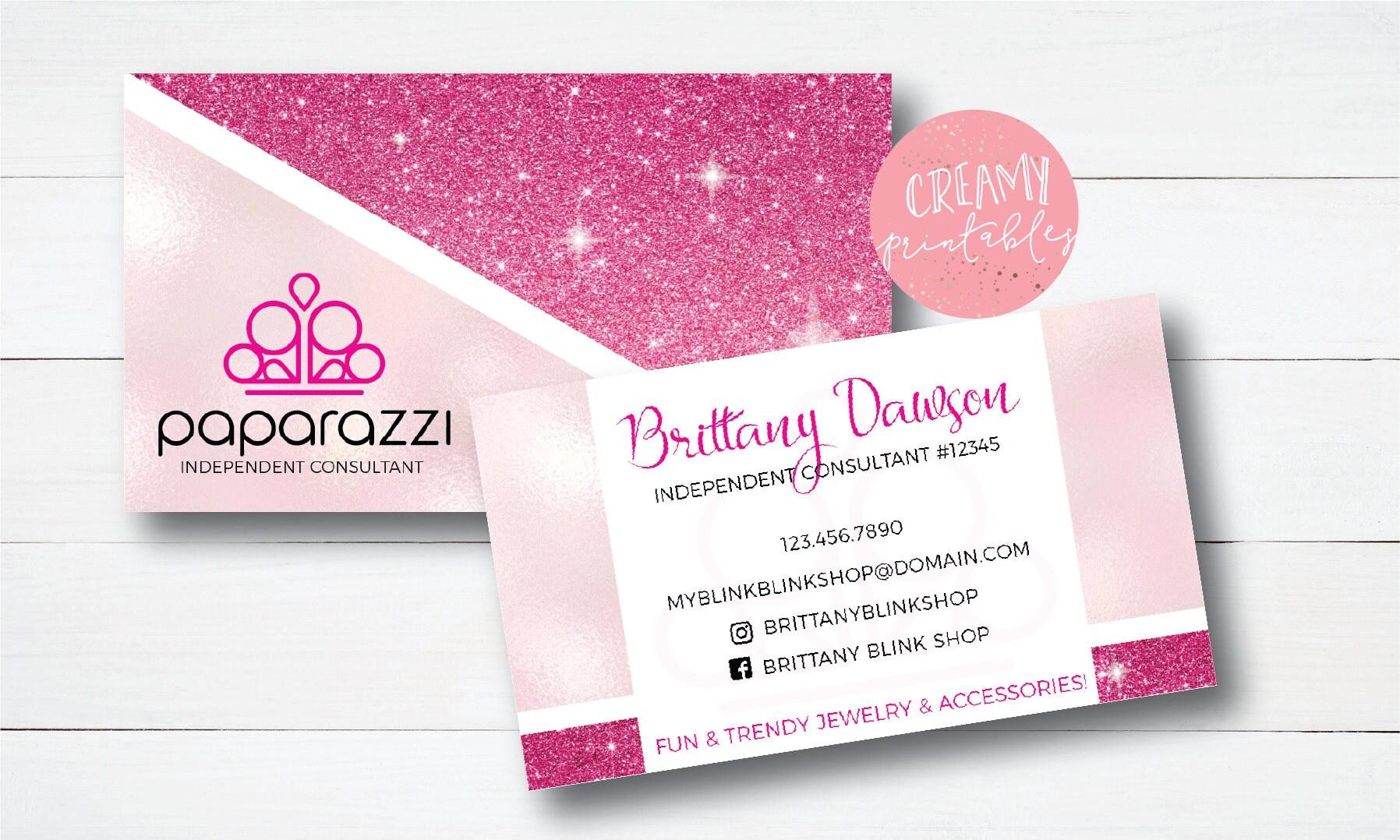 Paparazzi Business Cards Free Personalized Paparazzi Punch