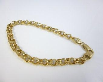 14kt Gold Bracelet, Gold Link Bracelet, Vintage