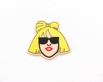 Blond girl patch