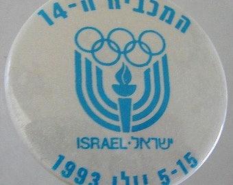 1993 ISRAEL Jewish athletic Paralympics 14th MACCABIAH Games Pin Button Sport Badge