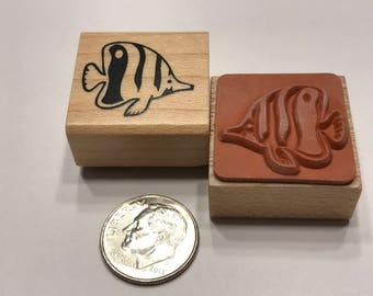 small fish rubber stamps, 20 mm (BB4/1)