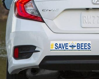 Bumper Sticker Save The Bees