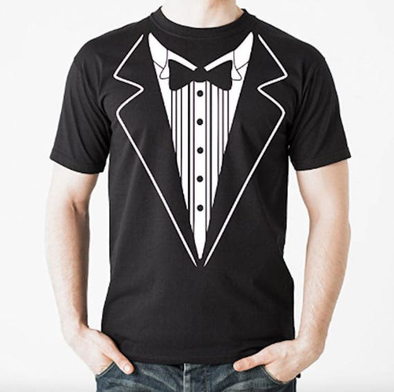 Tuxedo t shirt tux funny prom wedding groom costume outfit t for Make your own tuxedo t shirt