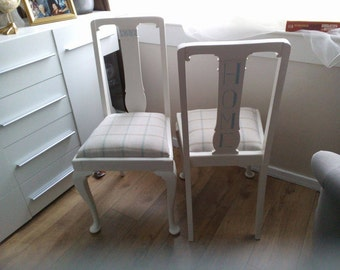 SOLD - Pair of Dinning Chairs.