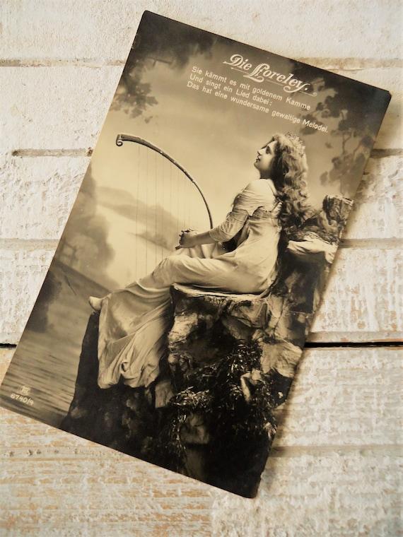 Antique Lorelei postcard