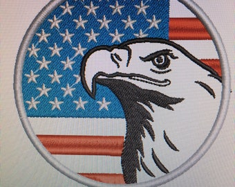 USA Eagle Embroidered Patch