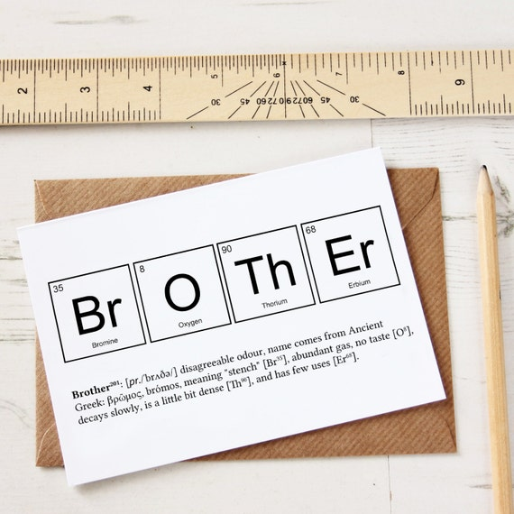 Funny brother elements cards funny sibling joke greeting like this item urtaz Gallery