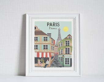 Paris (City Love) - Art Print (8x10)