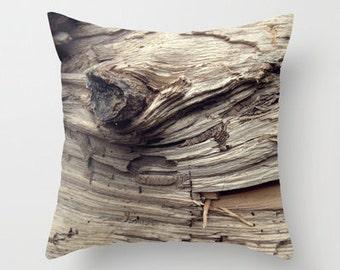Photo Pillow Cover Decorative Wood Pillow Brown Rustic Pillow Pillow