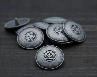 Gunmetal Jacket Button/ Gunmetal Button/ Shank Button 25 mm 1 Inch 40 Ligne MS36