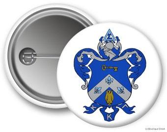 KKG Kappa Kappa Gamma Crest Sorority Greek Button