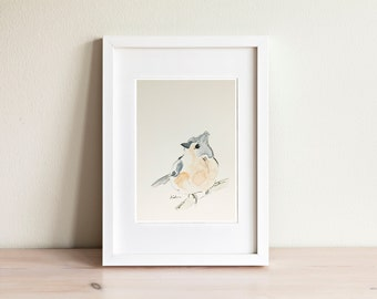 Bird watercolor illustration - handmade