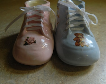 Personalized Ceramic High Top Baby Shoe