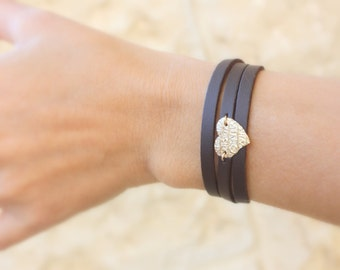 Valentines gift - leather bracelets for women - thin leather bracelet,  leather Wrap bracelet ,Women bracelet , bohemian leather bracelets