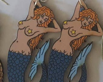 Mermaid, Mermaid earrings, Ariel, Gifts for her, Mermaid day, Mermaid jewelry