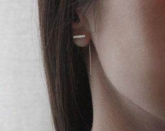 Minimal modern line earrings
