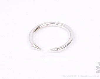 SR004// 925 Sterling Silver Nail Ring, 1 pc